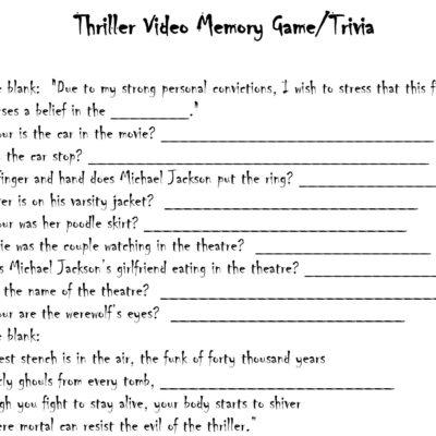 Thriller Trivia